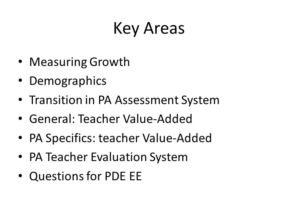 Key Areas Measuring Growth Demographics