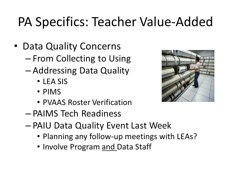 PA Specifics: Teacher Value-Added