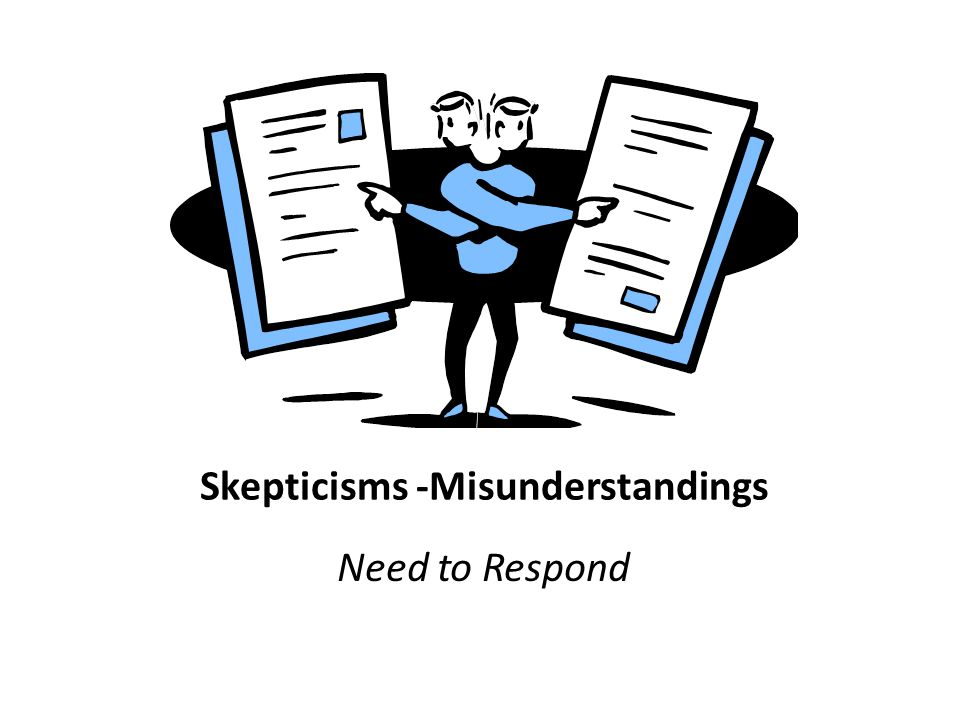 Skepticisms -Misunderstandings