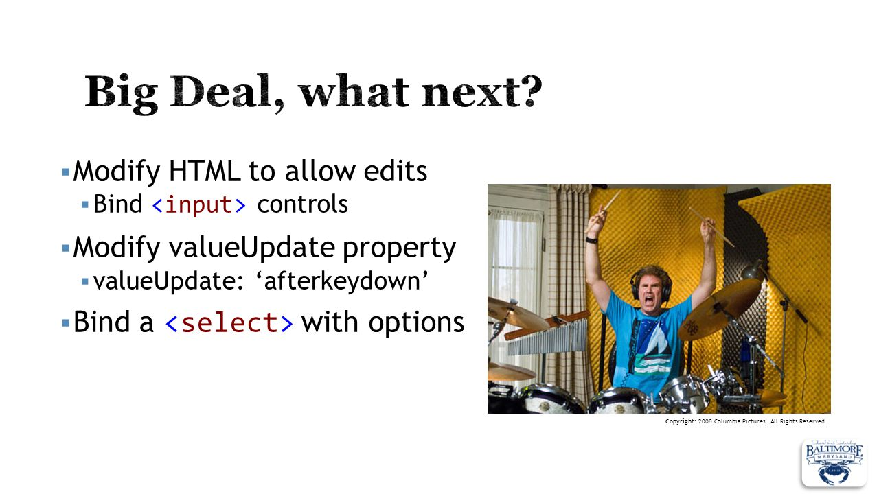 Big Deal, what next Modify HTML to allow edits