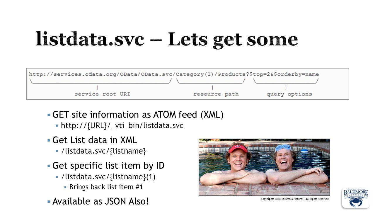 listdata.svc – Lets get some