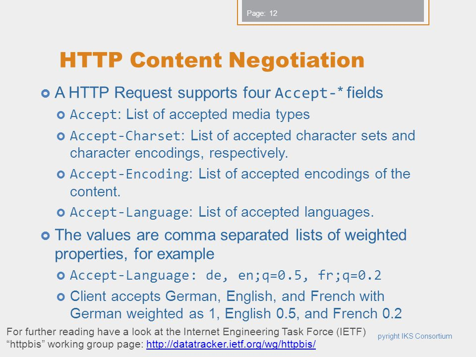 HTTP Content Negotiation