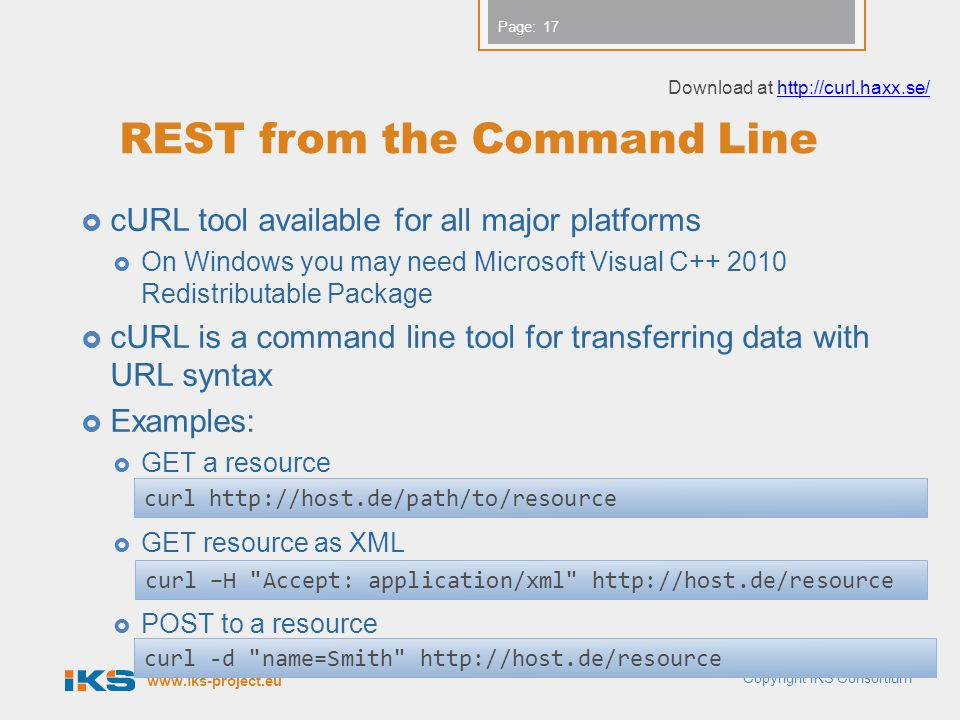 REST from the Command Line