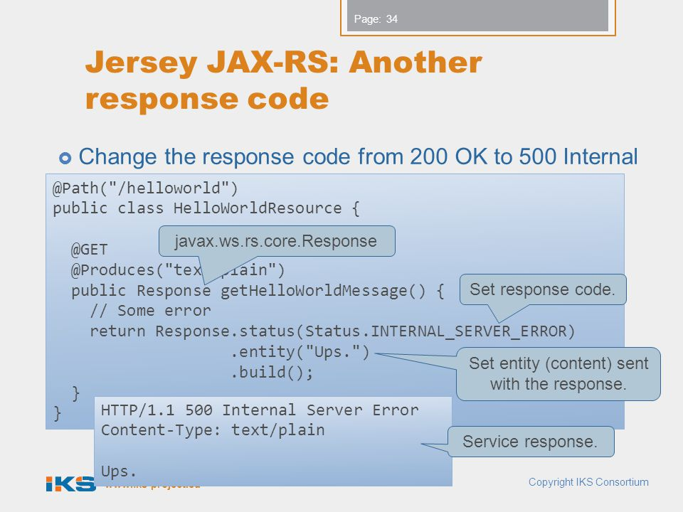 Jersey JAX-RS: Another response code