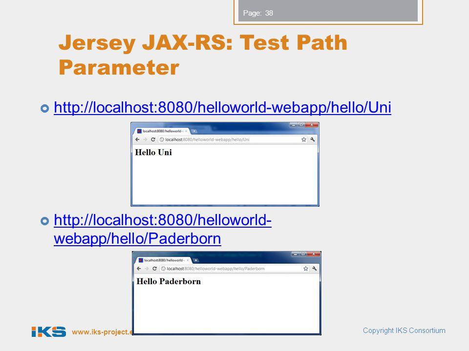 Jersey JAX-RS: Test Path Parameter