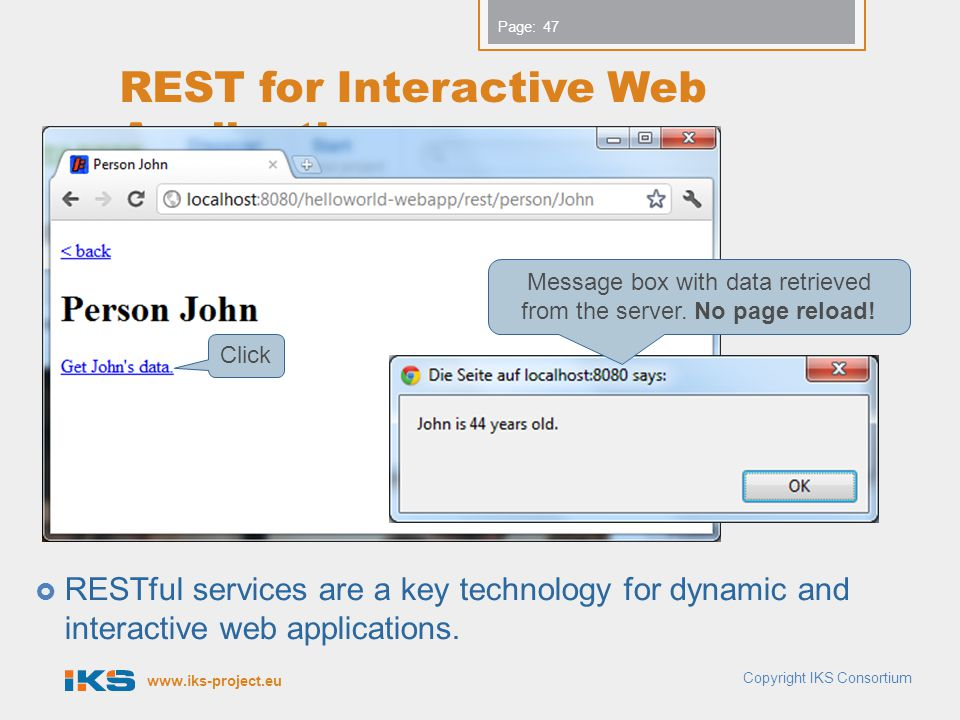 REST for Interactive Web Applications