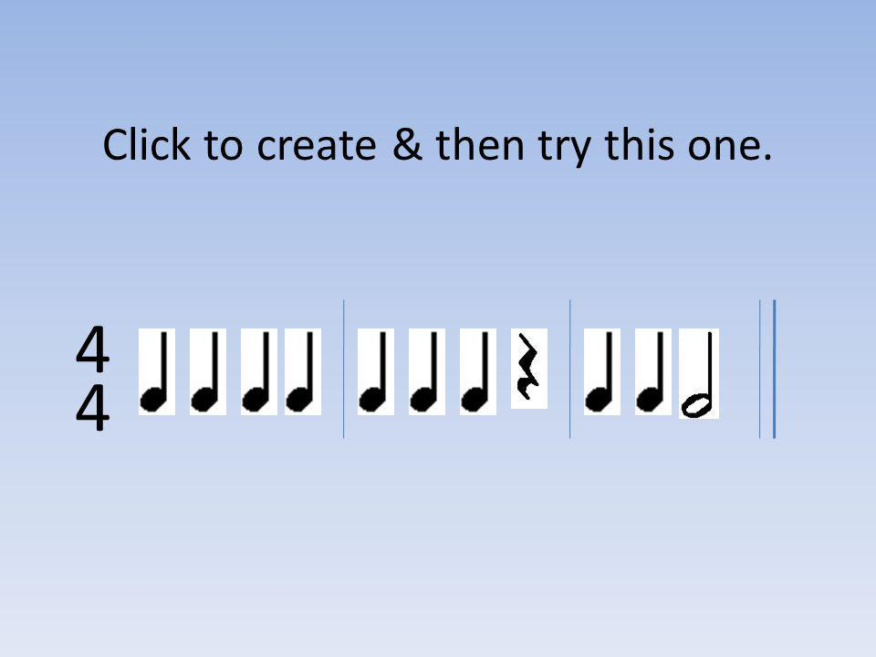 Click to create & then try this one.