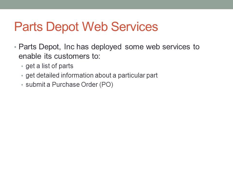 Parts Depot Web Services