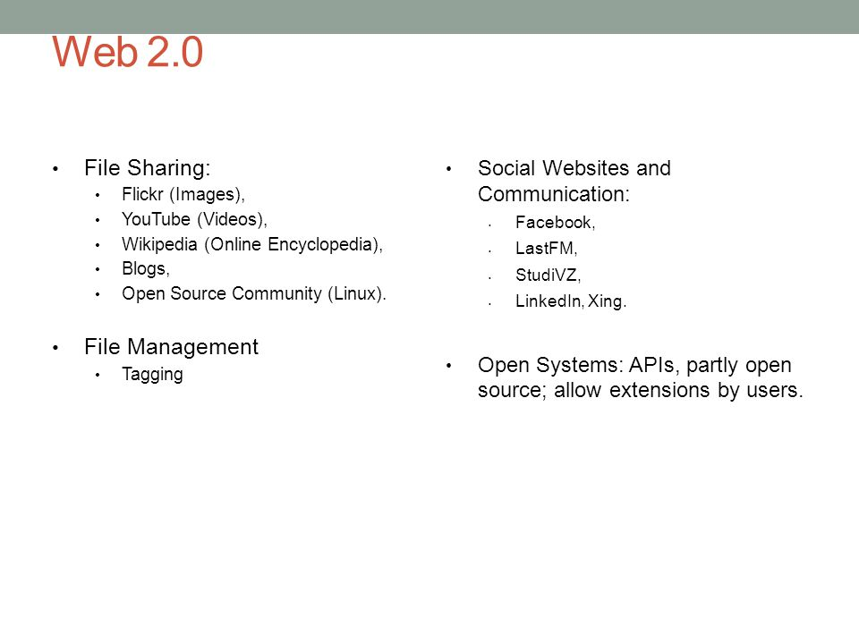 Web 2.0 File Sharing: File Management