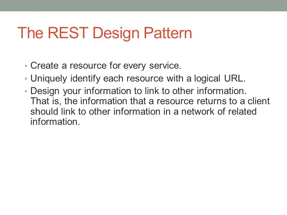 The REST Design Pattern