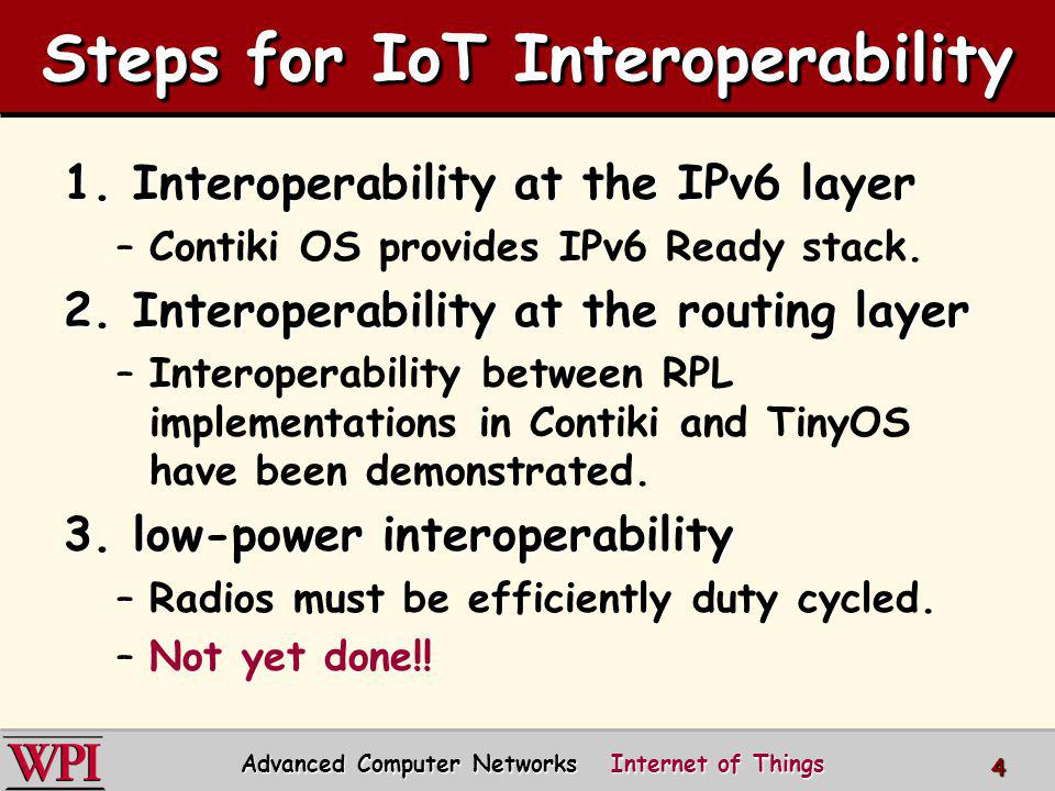 Steps for IoT Interoperability