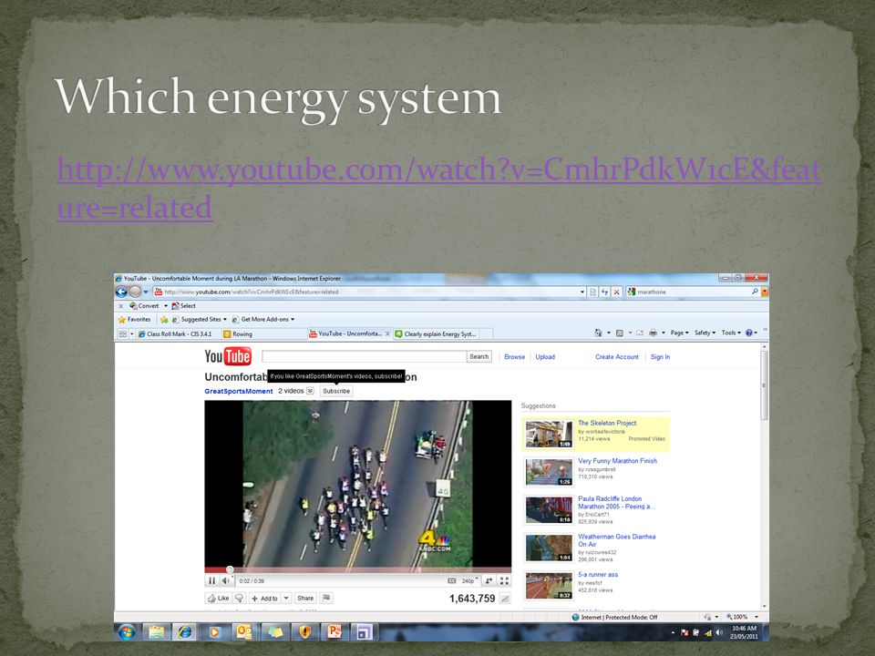 Which energy system http://www.youtube.com/watch v=CmhrPdkW1cE&feat ure=related