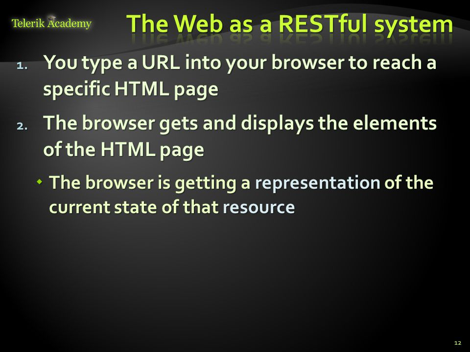 The Web as a RESTful system