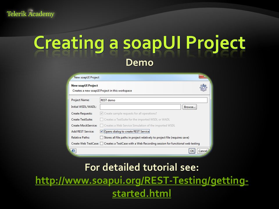 Creating a soapUI Project