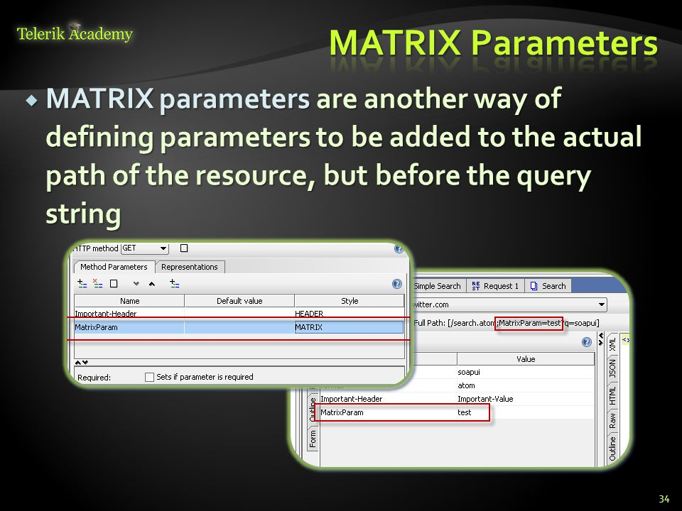 MATRIX Parameters