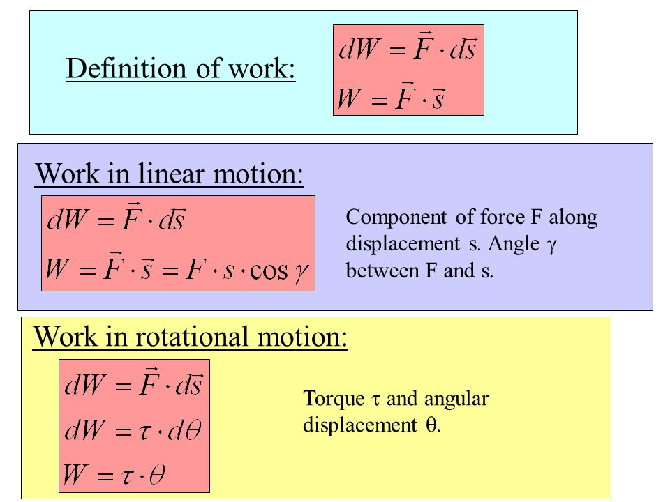 Work in rotational motion: