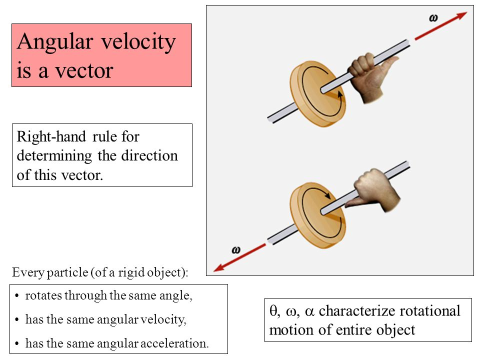 Angular velocity is a vector