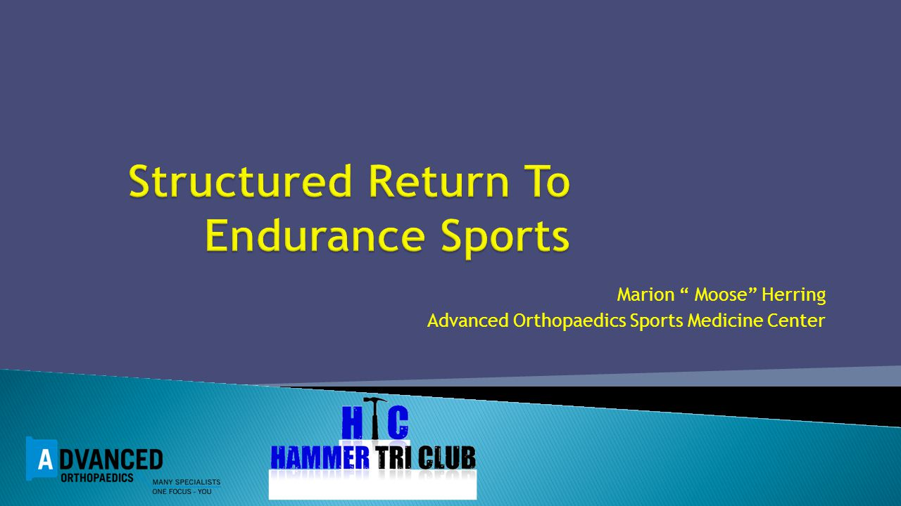 Structured Return To Endurance Sports