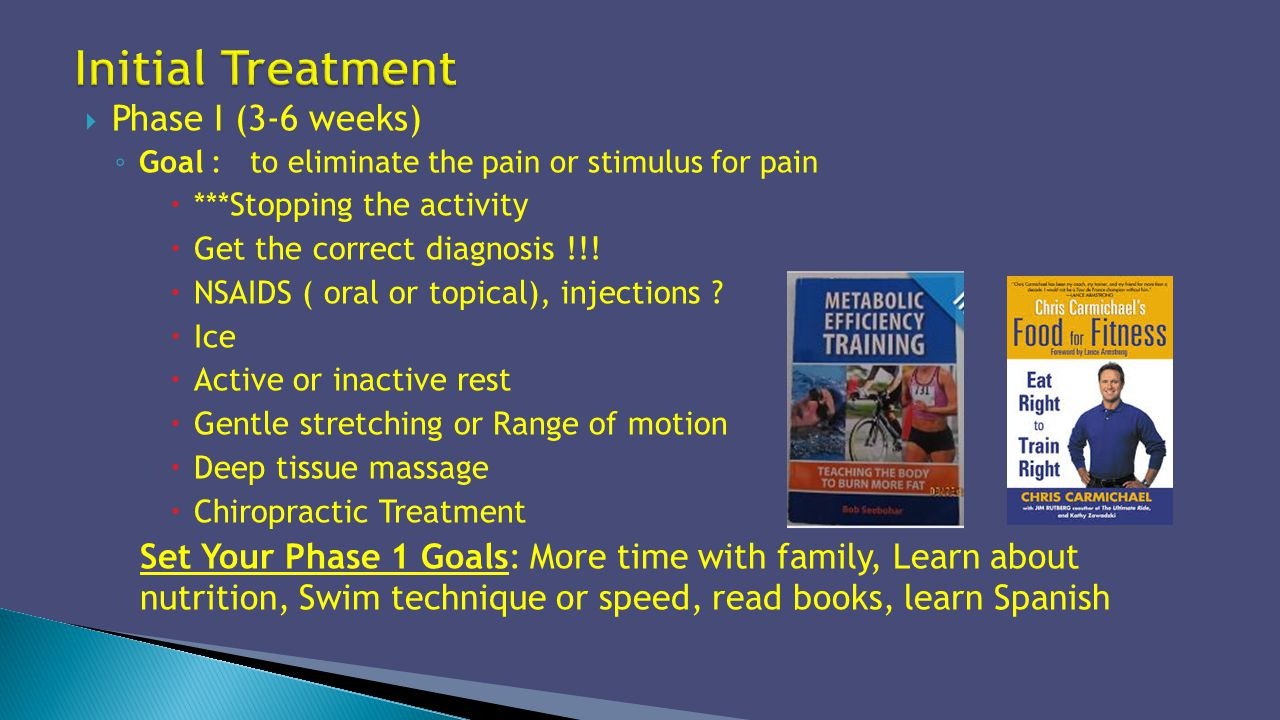 Initial Treatment Phase I (3-6 weeks)