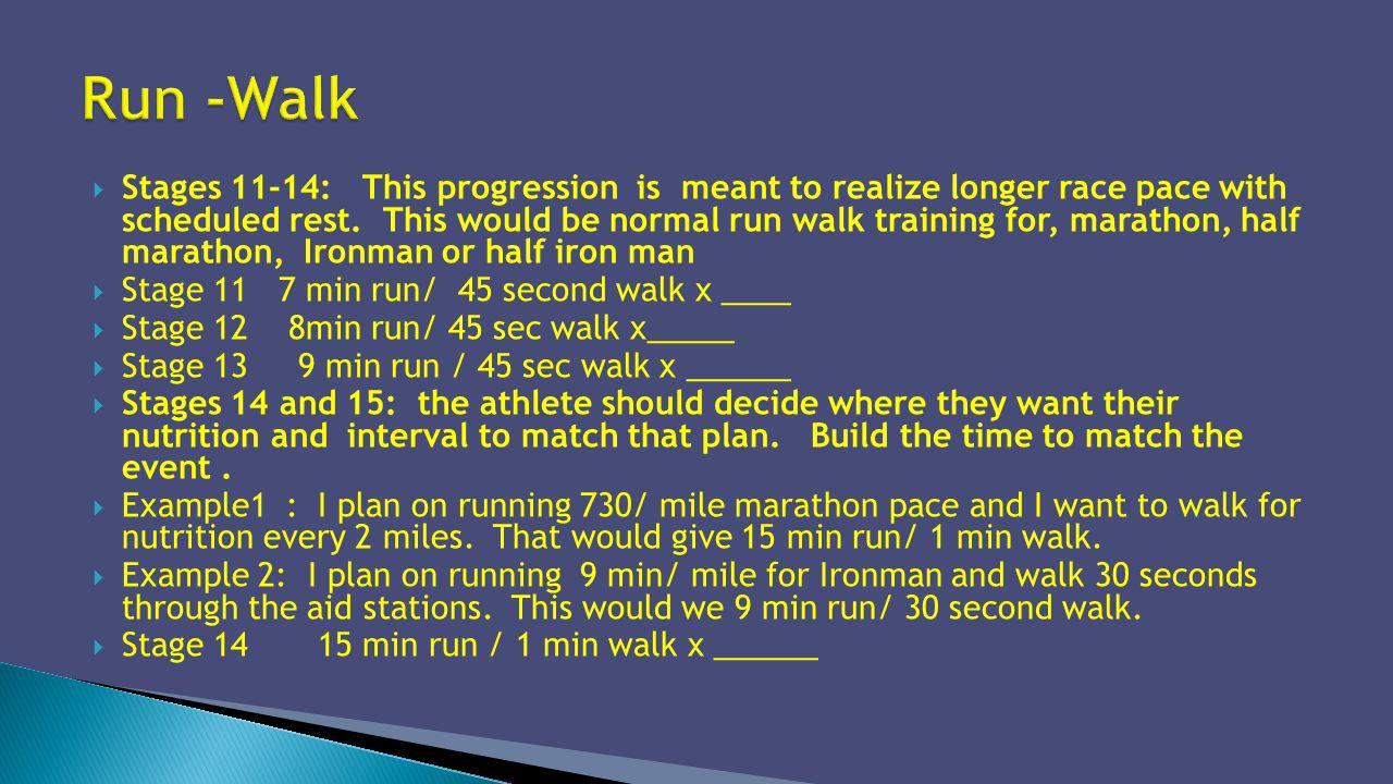 Run -Walk