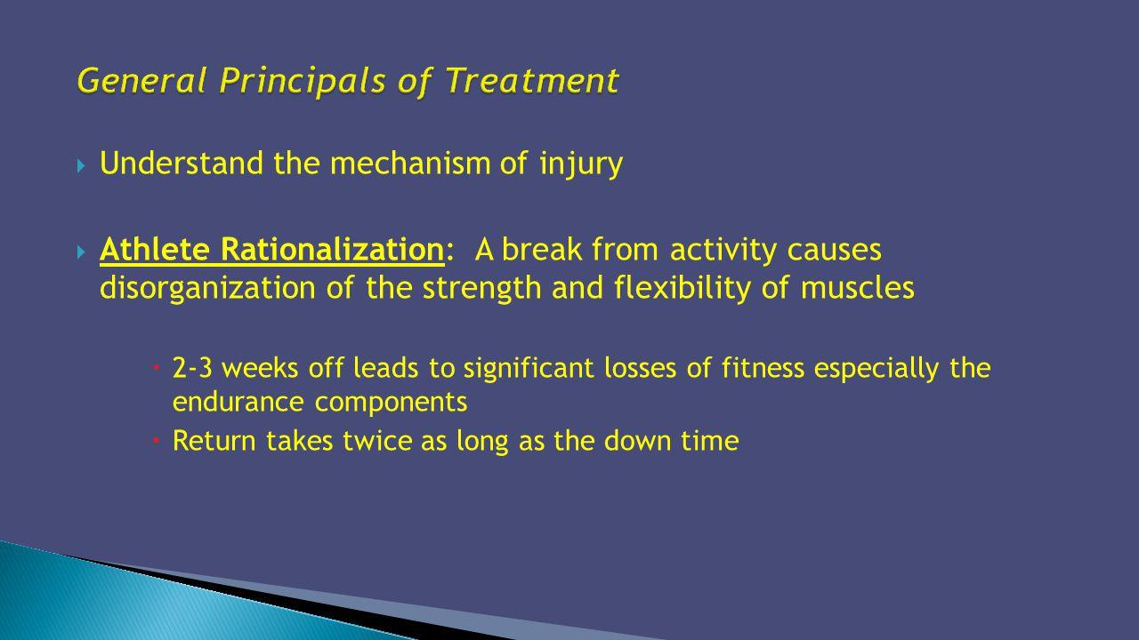 General Principals of Treatment