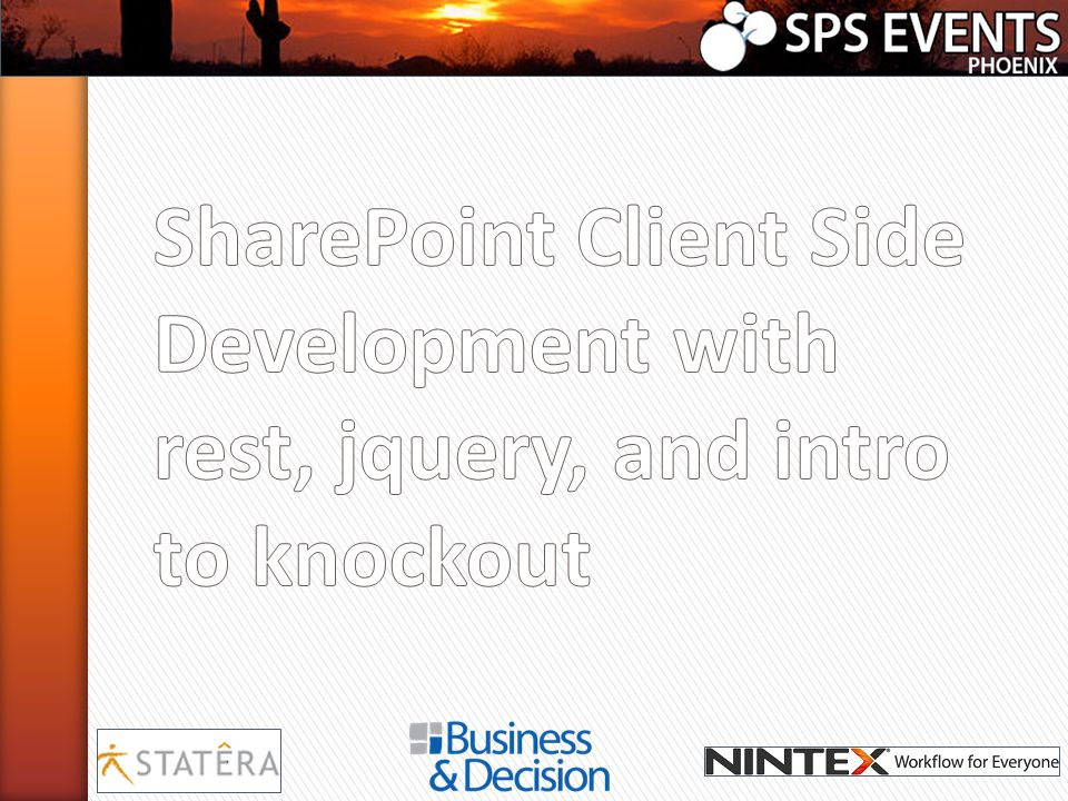 SharePoint Client Side Development with rest, jquery, and intro to knockout