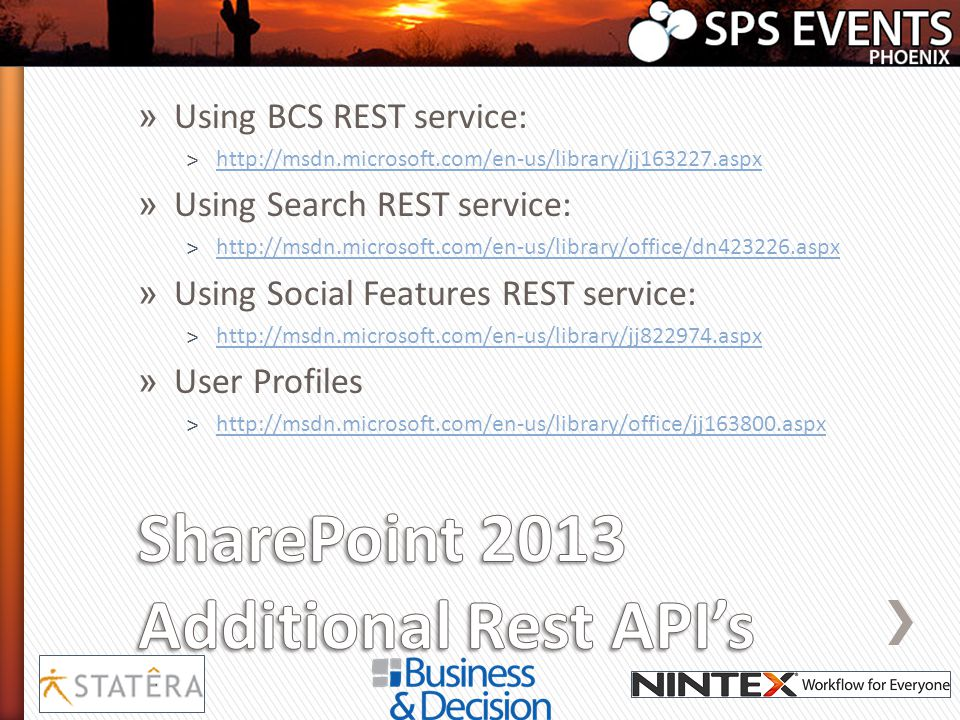 SharePoint 2013 Additional Rest API's