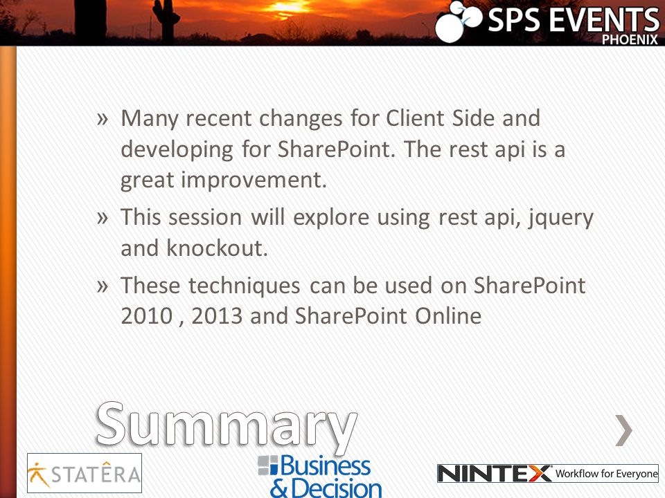 Many recent changes for Client Side and developing for SharePoint