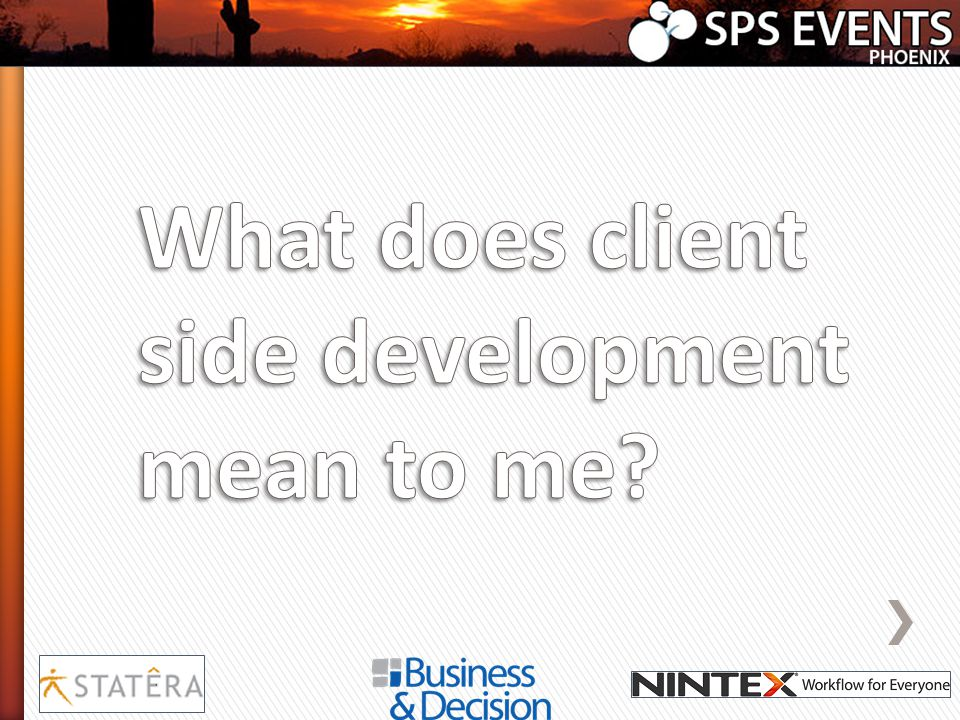 What does client side development mean to me