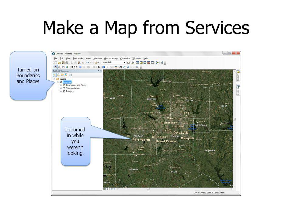 Make a Map from Services