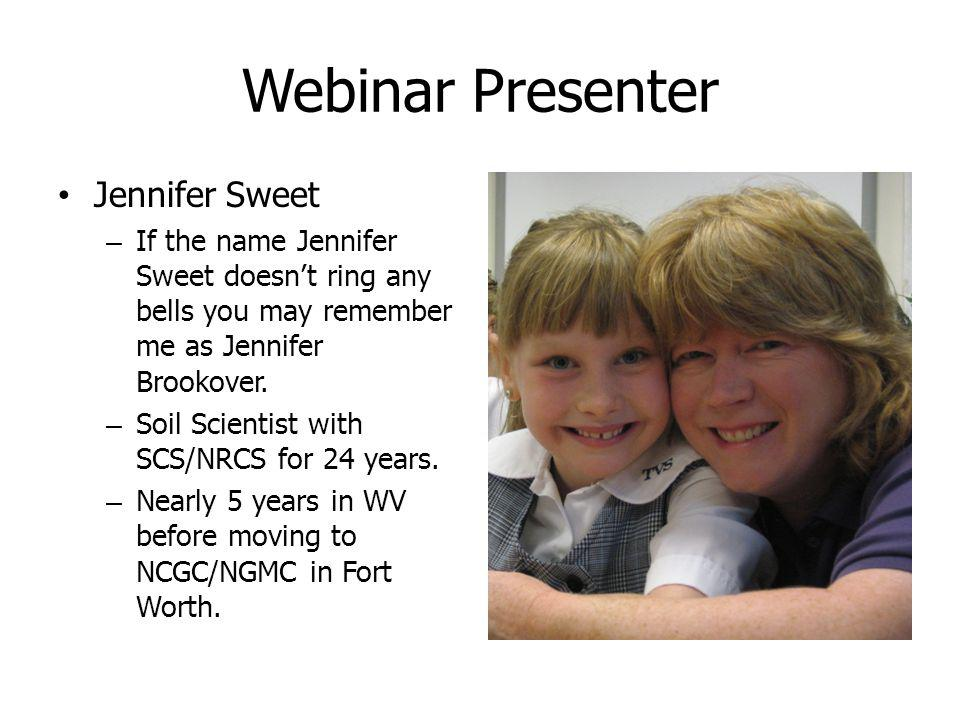 Webinar Presenter Jennifer Sweet