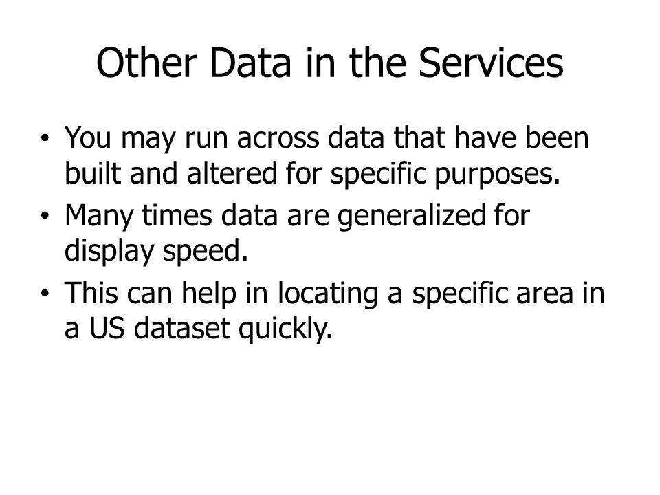 Other Data in the Services