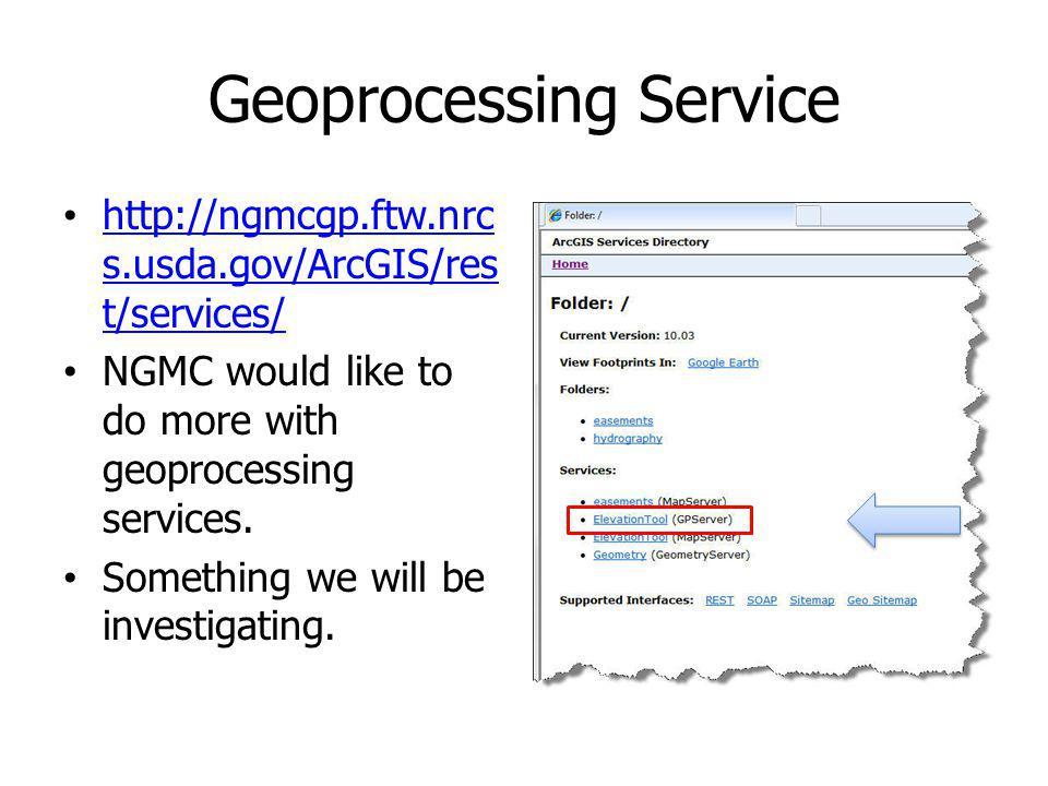 Geoprocessing Service