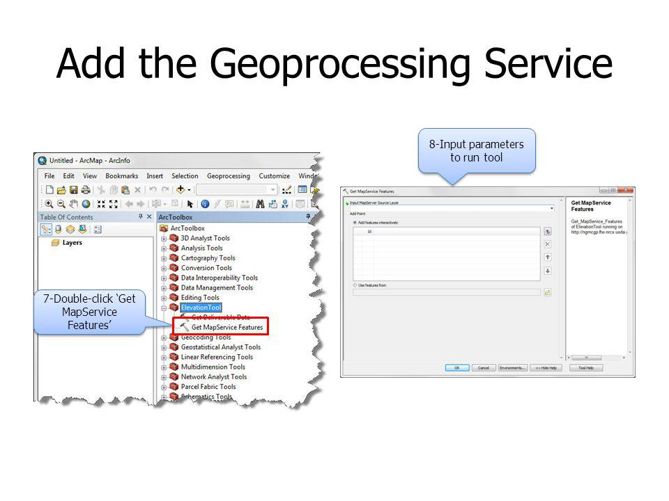 Add the Geoprocessing Service