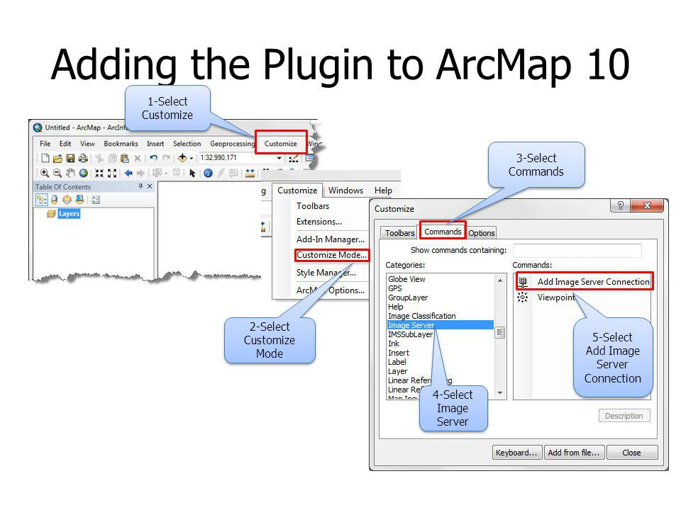 Adding the Plugin to ArcMap 10