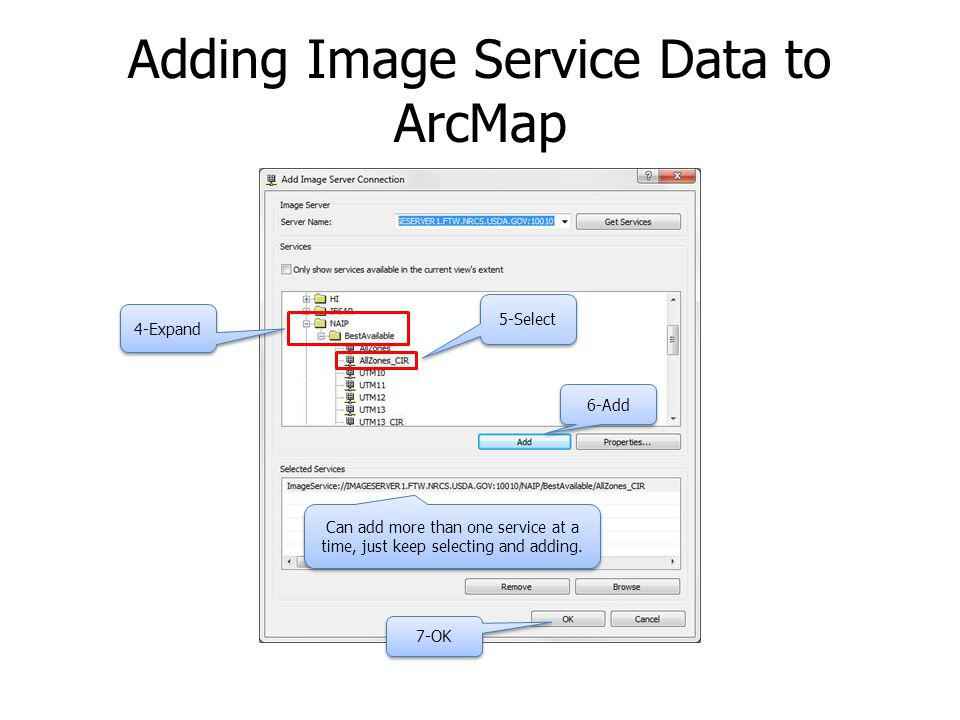 Adding Image Service Data to ArcMap