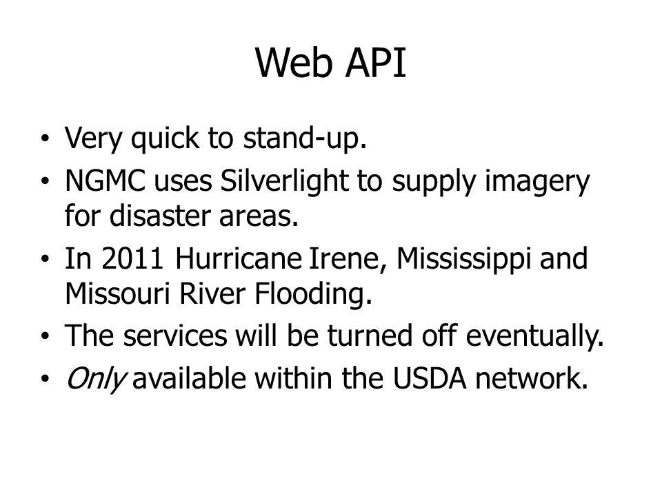 Web API Very quick to stand-up.