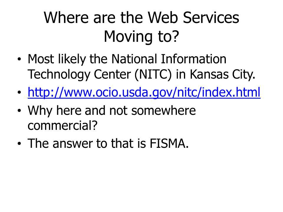 Where are the Web Services Moving to