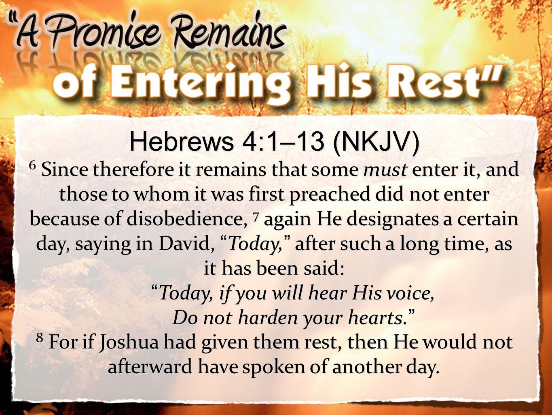 Hebrews 4:1–13 (NKJV)