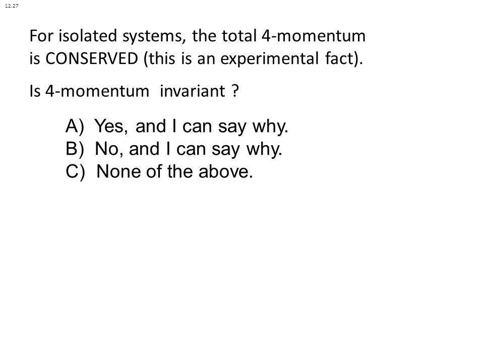 Is 4-momentum invariant