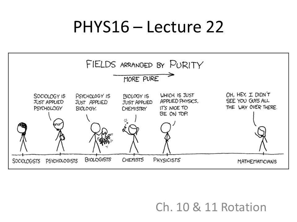 PHYS16 – Lecture 22 Ch. 10 & 11 Rotation