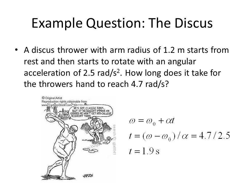 Example Question: The Discus