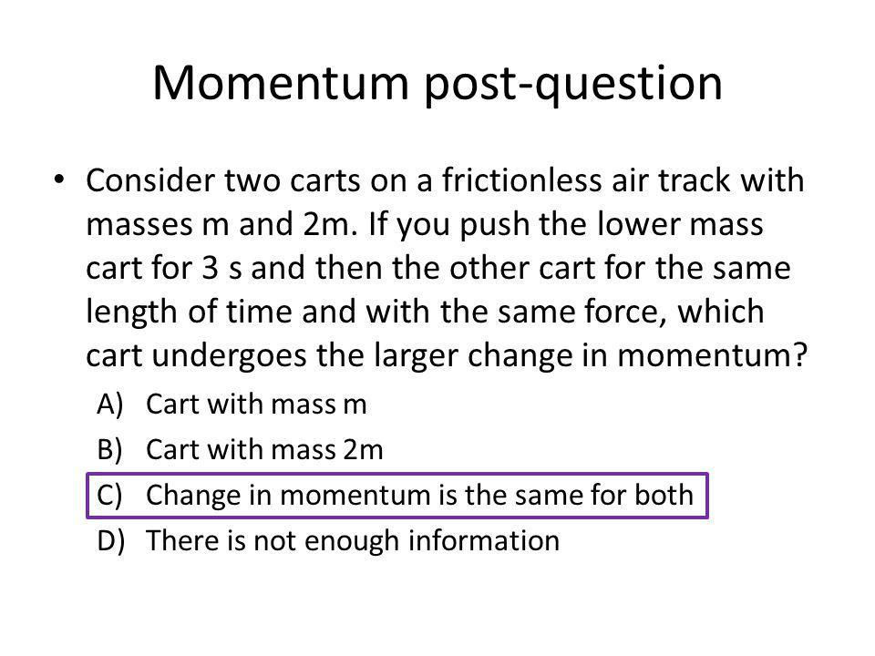 Momentum post-question