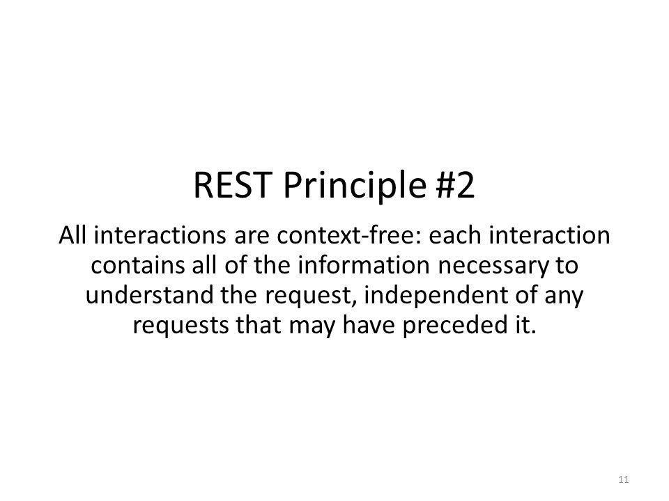 REST Principle #2