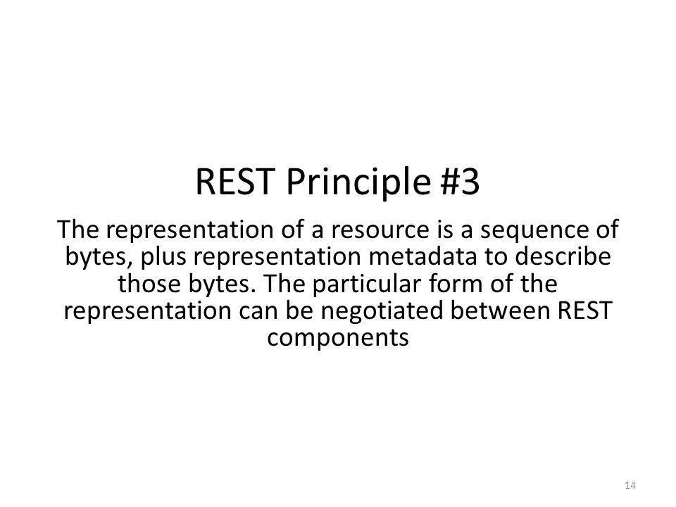 REST Principle #3