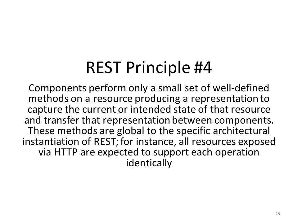 REST Principle #4