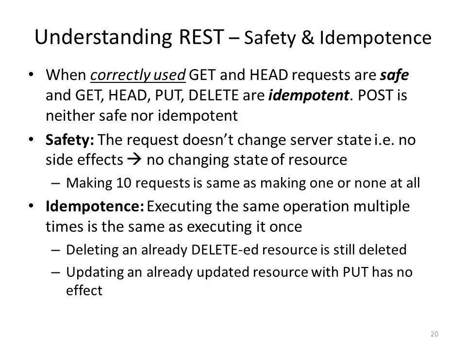 Understanding REST – Safety & Idempotence