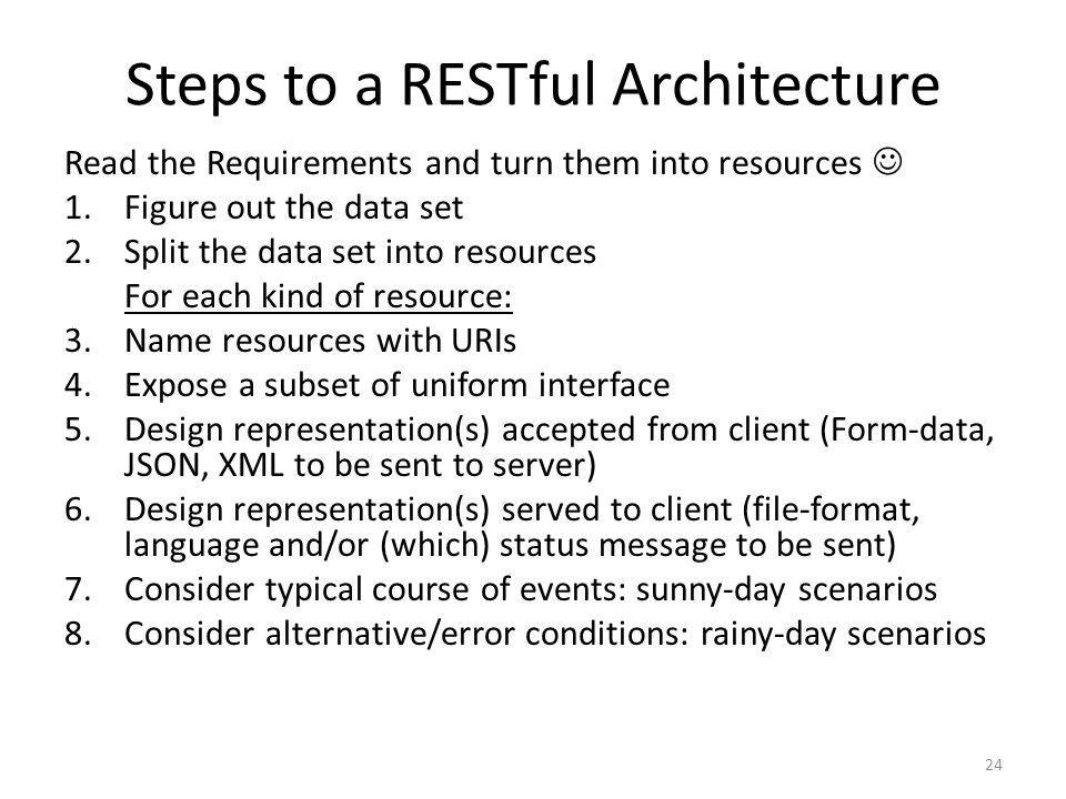 Steps to a RESTful Architecture