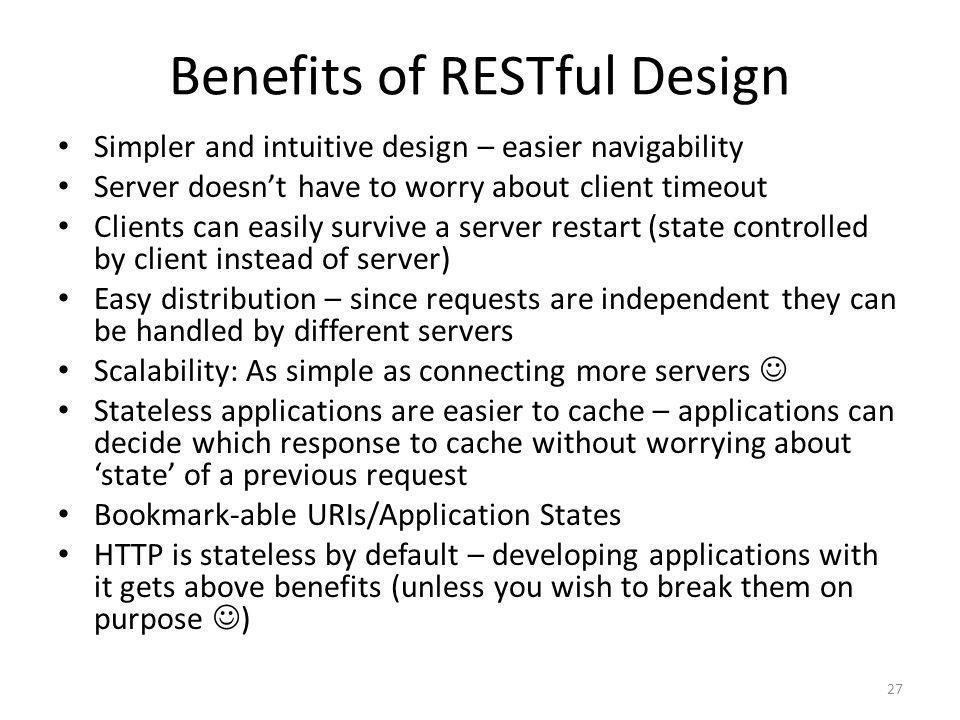 Benefits of RESTful Design