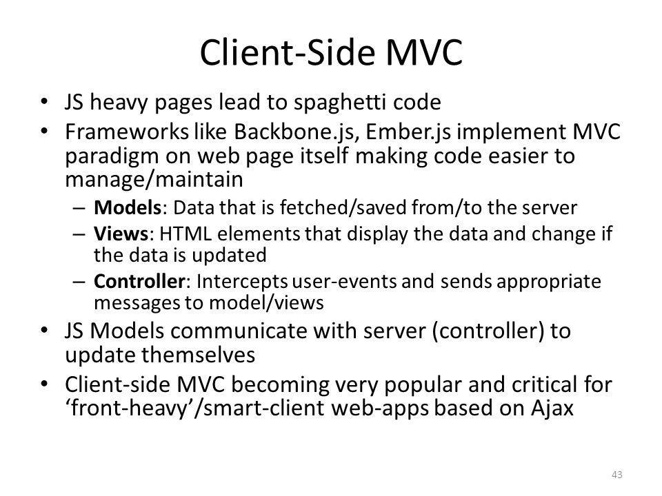 Client-Side MVC JS heavy pages lead to spaghetti code